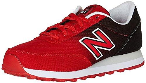 New Balance Mens 501 Modern Classics Fashion Sneaker, Rojo/Negro, 45 EU/10.5 UK