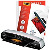 Fellowes Saturn 3i 125 Home Office Craft Laminator with 100 Letter-Size 5mil ImageLast Jam Free Laminating Pouches