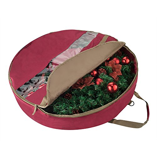 Elf Stor 83-DT5167 1556 Ultimate Red Holiday Christmas Storage Bag for 48'' Inch Wreaths by Elf Stor (Image #5)
