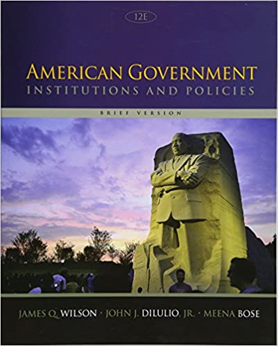 American Government Institutions And Policies 13th Edition Pdf