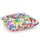 Society6 Colorful India Elephant Kids Illustration Pattern Floor Pillow Square 26'' x 26''