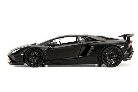Jada 1 24 Metals Lamborghini Aventador Sv Die Cast Matte Black 99324