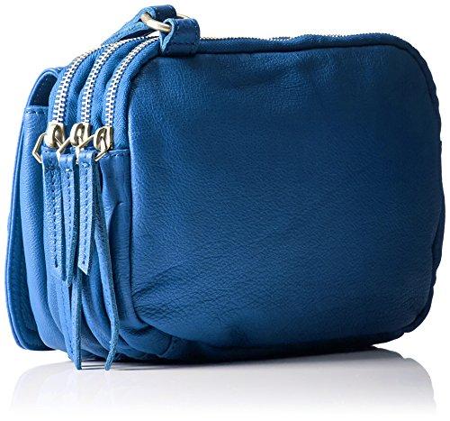 Liebeskind Berlin Damen Maike7 Vintag Umhängetasche, 10x23x17 cm Blau (Electric Blue)