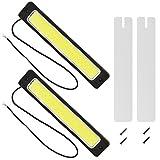 Daytime Running Light Lamp Super Bright 12V LED Strips COB Car Led Fog Light Waterproof for Universal Car Trucks (Color: 15CM, Tamaño: Middle)