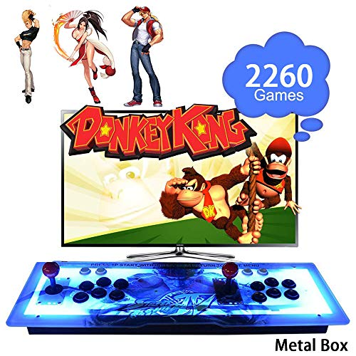 ElementDigital Arcade Game Console 1080P 3D & 2D Games 2260 in 1 Pandora's Box Metal Box with Dream Color LED Lights 2 Players Arcade Machine with Arcade Joystick Support Expand 6000+ Games