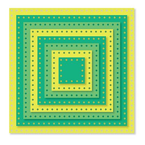 Sizzix Sbarnard Framelits Die Dotted Square SB (Sb Square)