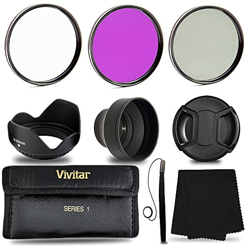 58MM Filters Accessory Kit, 9 Piece Lightweight, Compact Accessories For Canon Solar Fld Light
