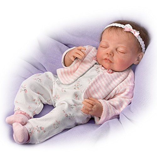 Dream Big, Little One Breathes and has a Heartbeat With Hand-Rooted Hair - So Truly Real® Lifelike, Interactive & Realistic Newborn Baby Doll 19-inches  by The Ashton-Drake Galleries by The Ashton-Drake Galleries