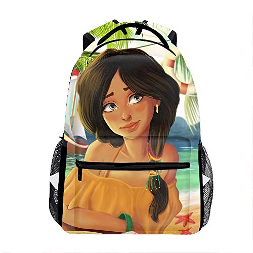Woman Water Sol Kids Backpack School Book Bag for Toddler Boys Girls