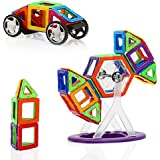 MAGniBlox Magnetic Building Blocks and Magnet Tiles for Toddlers and Kids of All Ages