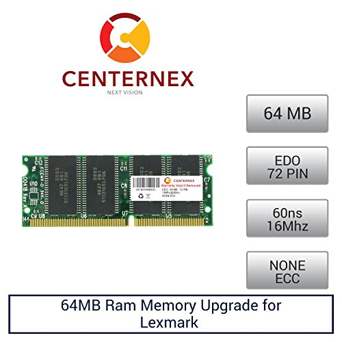 64MB RAM Memory for Lexmark (IBM) Optra S1650 (60NS) (45H0027 ) Printer Memory Upgrade by US Seller by Centernex
