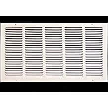 """28""""w X 14""""h Steel Return Air Grilles - Sidewall and Cieling - HVAC DUCT COVER - White [Outer Dimensions: 29.75""""w X 15.75""""h]"""
