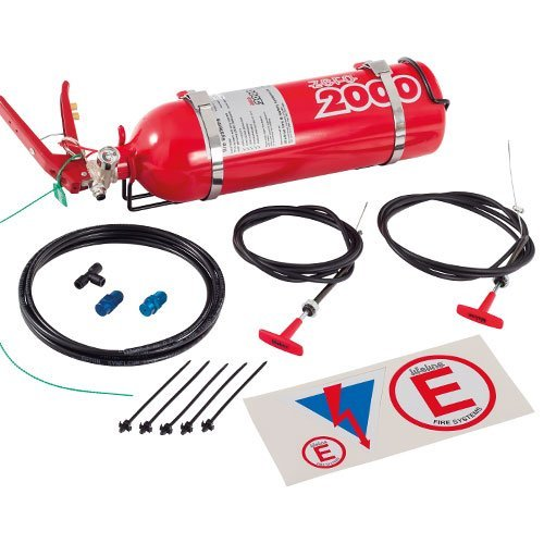 (Lifeline USA 2.25L Foam Auto Racing Fire Bottle Extinguisher System Zero 2000)