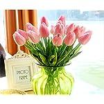Lorigun-10-Heads-Artificial-Tulips-Real-Touch-PU-Tulips-Flowers-Arrangement-Bouquet-Home-Room-Office-Centerpiece-Party-Wedding-Decor-Pink