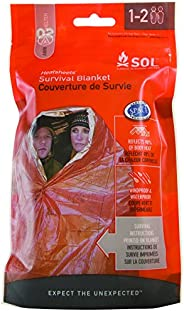 S.O.L. Survive Outdoors Longer 90 Percent Heat Reflective Survival Blanket, Multi, One Size
