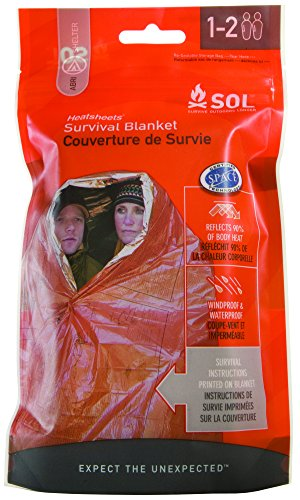 S.O.L. Survive Outdoors Longer 90 Percent Heat Reflective Survival Blanket