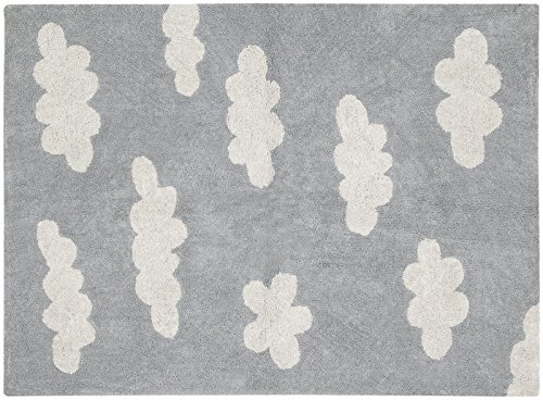 Lorena Canals Clouds, Grey/Cream, 4' x 5' 3'' by Lorena Canals