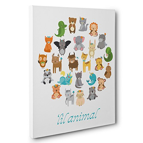 Lil Baby Animals Canvas Wall Art