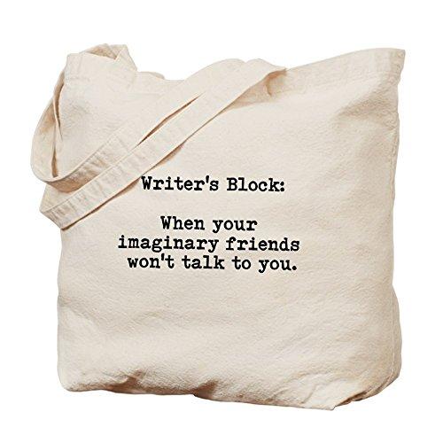 CafePress–Writer' s Block–Borsa di tela naturale, panno borsa per la spesa