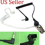 FYL 3.5mm Clear Acoustic Tube Listen Only Earpiece FBI style 1 yr WARRANTY SCANNER