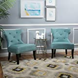 Genero Fabric Chair w/ Nailhead Accents (Set of 2)