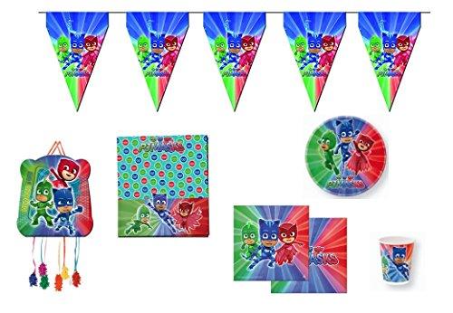 Disney, pj masks, 0209, Lote para fiestas y cumpleaños; 16 ...