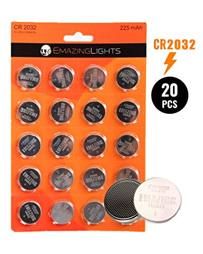 EmazingLights CR2032 Battery (20 Pack), 3V 2032 Batteries Lithium Cell 225 mAh (Best Used Car Reliability Ratings)
