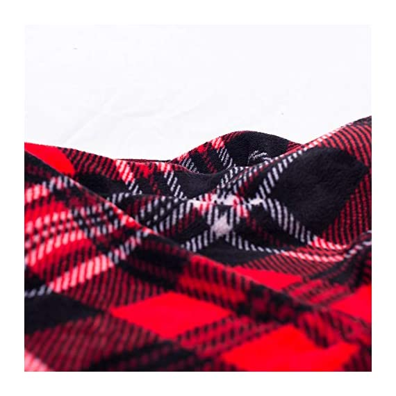SOCHOW Flannel Fleece Blanket 50 × 60 Inches, All Season Plaid Red/Grey Blanket for Bed, Couch, Car - MATERIAL&DESIGN:These flannel blankets are 100% high-quality polyester fiber. The thick and thin lines are interspersed to emphasize the texture of the blankets, which are endowed with modern style without compromising comfort.They are extremely soft and warm with delicate package edge, rigorously designed with rigorous broad-brimmed pattern. Besides, they also feature seamless round edge, solid and beautiful. EASY CARE: - Machine washable under 30 degrees -Easy to store, -Wrinkle-resistant -High color fastness &No hair off. MULTI FUNCTIONS:Suitable use for couch, chair, car, bed or on the floor. It's also easy to take to outdoors. - blankets-throws, bedroom-sheets-comforters, bedroom - 51LK3I4OEuL. SS570  -