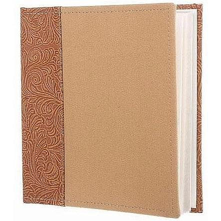 TROPICAL embossed spine Cognac album 2-up Pocket pages by Dennis Daniels - 4x6 by Dennis Daniels Designs