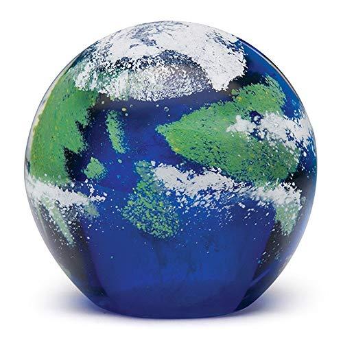 Handmade Glass Paperweight - Earth Glow - 4