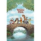 Winnie the Pooh Tigger Eeyore Cartoon TV Movie Foil Art Poster 24 x 36 inches