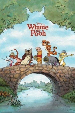 Winnie the Pooh Tigger Eeyore Cartoon TV Movie Foil Art Post