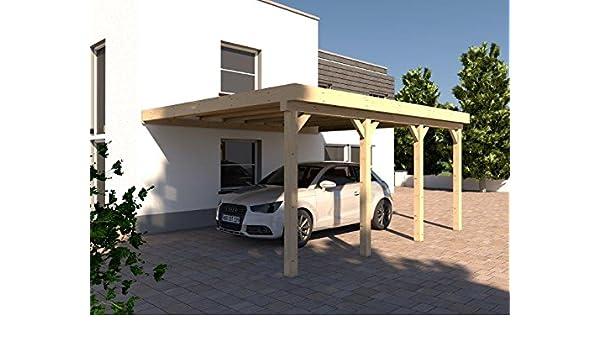König Werbeanlagen CarPort CarPort Resina IV 400 x 600 cm laminada abeto + tejado de PVC.: Amazon.es: Jardín
