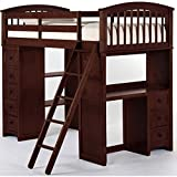 NE Kids School House Student Loft Bed in Cherry