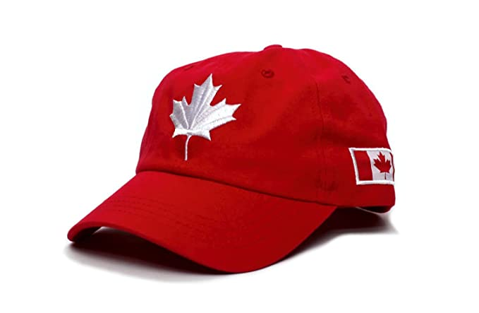 Amazon.com  Canadian Flag Canada Embroidered Dad Hat One-Size Unisex ... 505f2fcf09c