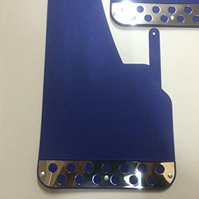 RALLY MUDFLAPS BLUE X 4 UNIVERSAL FIT MUDFLAPS: Automotive