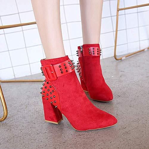 Para Tacones Martin Plataforma Fuweiencore Altos Británico Exterior Mujer Corta Zapatos Beige Botines Remache Fiesta De Mujer Manga Botas Cortas Moda Mujeres Estilo CnAAOFwqtp