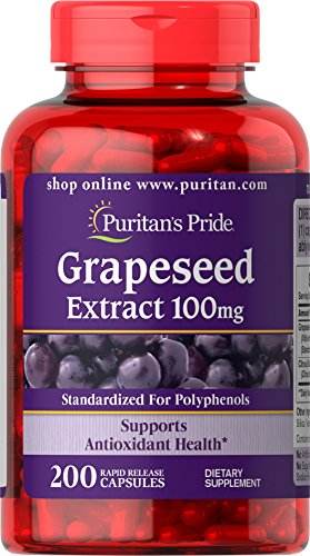 Puritan's Pride Grapeseed Extract 100 mg-200 Capsules