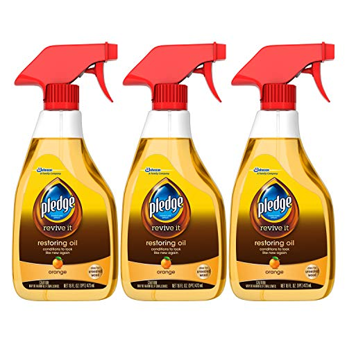 Pledge Multi-Surface Furniture Polish Spray, Works on Wood, Granite, and Leather, Shines and Protects, Orange, 9.7 oz…