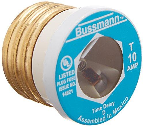 Fusetron Plug Fuse - Cooper Bussmann BP/T-10 Type T Plug Fuse Time Delay Fusetron