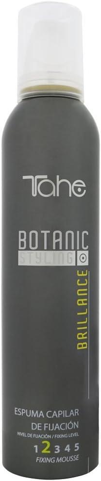 Tahe Botanic Styling Espuma para el Pelo/Espuma para el Cabello de Fijación Brillance con Extracto de Camelia sin Residuos Fijación 2, 300 ml