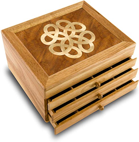 MarqART Wood Art Celtic Box - Handmade USA - Unmatched Quality - Unique, No Two are The Same - Original Work of Wood Art. A Celtic Gift, Ring, Trinket or ()