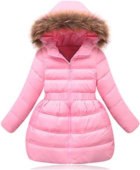 Girl Winter Coat Faux Fur Kid Long Hooded Down Jacket Padded Parka Outerwear Windbreaker