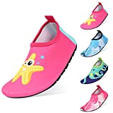 Best Water Shoes For Children - QIMAOO Kids Swim Water Shoes, Boys Girls Barefoot Review