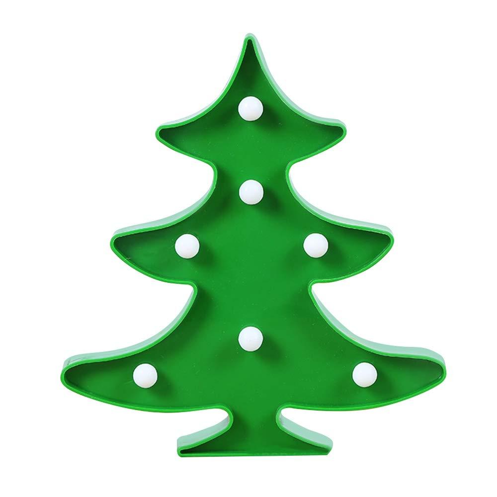 LED Christmas Tree Shape Light 3D Desktop Night Light