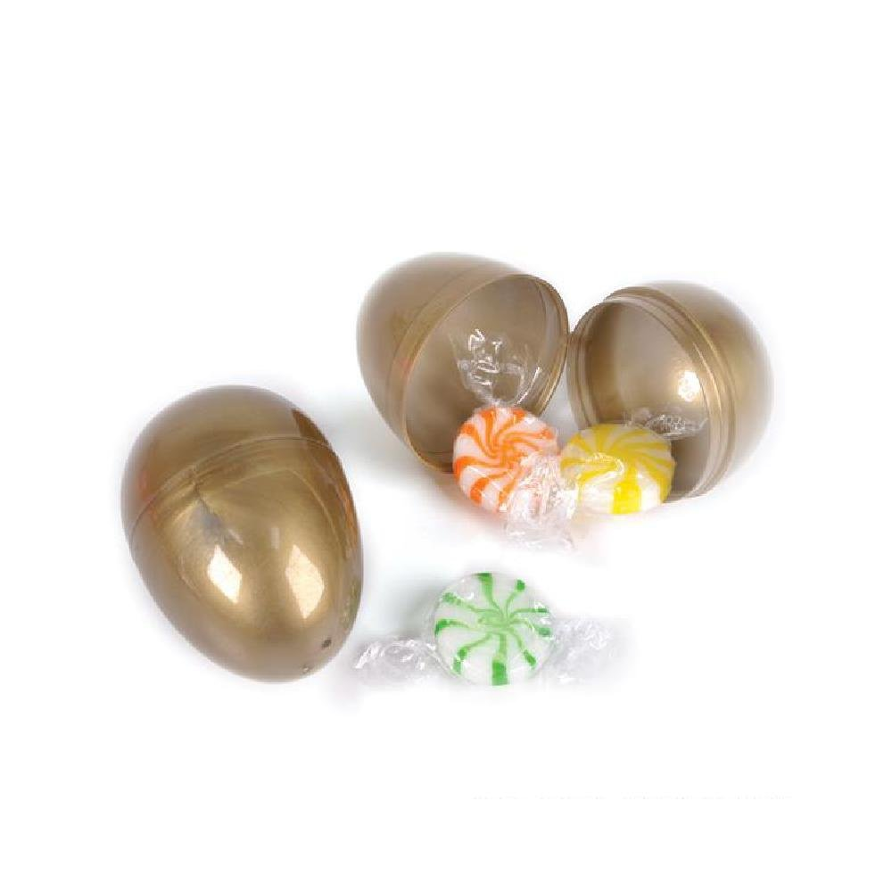 2.5''Gold Hinged Easter Eggs (100Pc/Un) (With Sticky Notes)