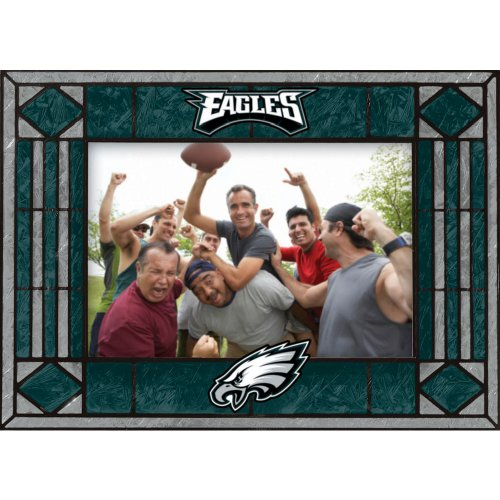 Philadelphia Eagles Art Glass Horizontal Frame ()