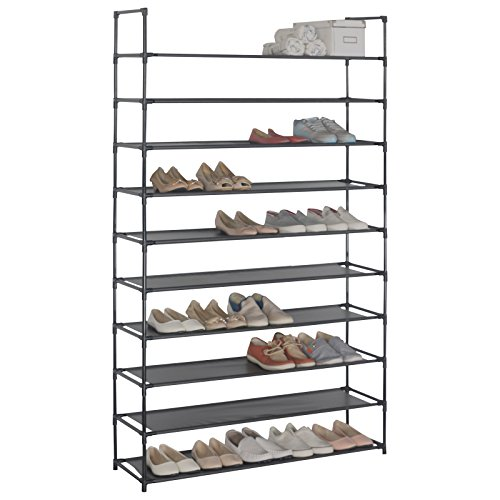 WOLTU Shoe Rack Organizer 10-Tiers Holding 50 Pairs Tower Shelf Storage Shelves ACSR1006-1 (Holding Rack)