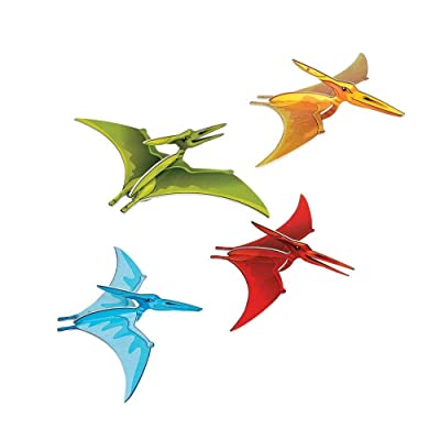 DINO-MITE PTERODACTYL HANGING 3D DECOR - Party Decor - 4 Pieces: Toys & Games