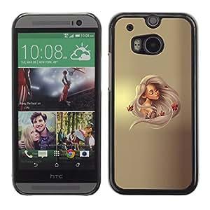 EJOY---Cubierta de la caja de protección la piel dura para el ** HTC One M8 ** --Princesa rubia